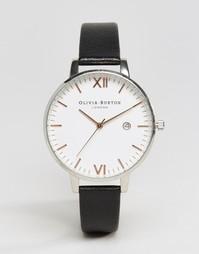 Часы с черным кожаным ремешком Olivia Burton Timeless OB15TL05