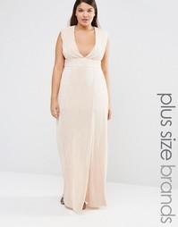 Платье макси размера плюс Missguided - Телесный