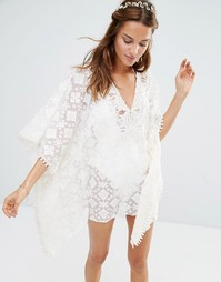 Blue Life Bridal Beach Tunic - Белый