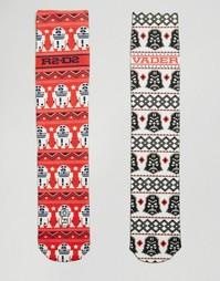 2 пары носков с принтом Звездные войны в ацтекском стиле ASOS - Мульти