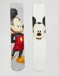 2 пары носков с рисунком оригами и пиксельным принтом Микки Мауса ASOS