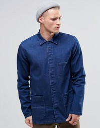 Джинсовая рубашка в винтажном стиле с длинными рукавами ASOS