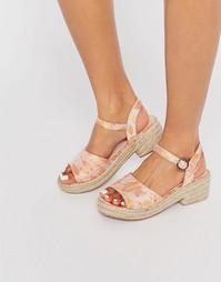 Эспадрильи на каблуке ASOS TABBY - Цветочный рисунок