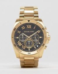 Золотистые часы с хронографом Michael Kors Brecken MK8481 - Золотой