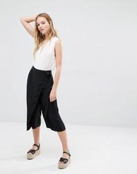 Юбка-шорты с запахом Neon Rose - Черный