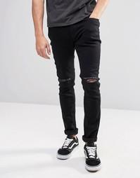 Супероблегающие рваные джинсы Produkt - Черный