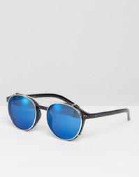 Солнцезащитные очки в круглой оправе с голубыми стеклами Jeepers Peepe