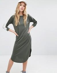 Платье-футболка с рукавами 3/4 и контрастными вставками Daisy Street
