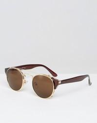 Круглые солнцезащитные очки Jeepers Peepers - Коричневый