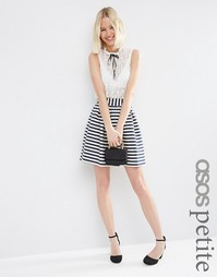 Полосатая мини-юбка для выпускного ASOS PETITE - Мульти
