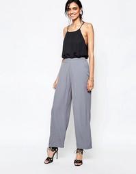 Серые брюки с широкими штанинами Ganni - Дымчатый жемчуг