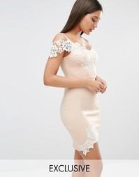 Платье мини с кружевной отделкой Michelle Keegan Loves Lipsy