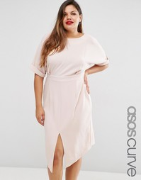 Однотонное платье ASOS CURVE - Blush