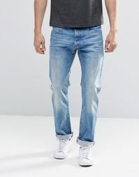 Светлые потертые узкие джинсы G-Star Elwood 5620 3D