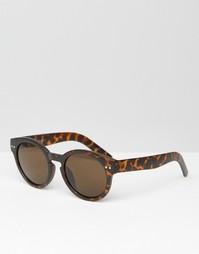 Солнцезащитные очки в круглой черепаховой оправе AJ Morgan