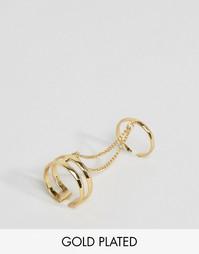 Двойное позолоченное кольцо Pilgrim - С золотым покрытием
