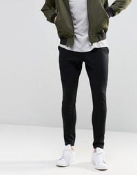 Облегающие трикотажные брюки Jack & Jones - Черный