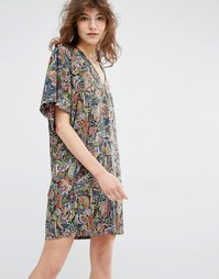 Платье мини с рукавами-кимоно Essentiel Antwerp Manganese - Мульти