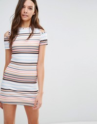 Трикотажное платье в полоску Influence - Полосатый принт