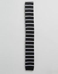 Трикотажный галстук Selected - Черный