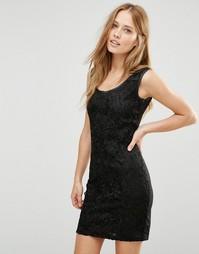 Вязаное кружевное платье Pussycat London - Черный