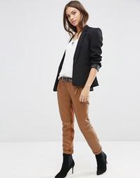 Кожаные брюки Gestuz Ada - Кэмел