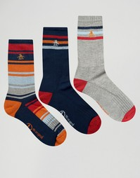 3 пары спортивных носков в стиле ретро Original Penguin - Темно-синий