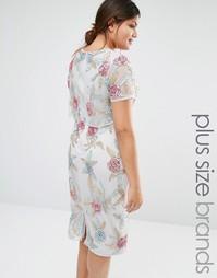 Платье-футляр с разрезом сзади Lovedrobe - Серый