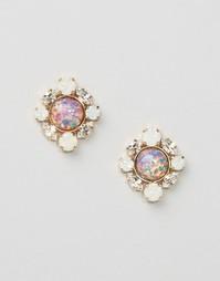 Серьги с отделкой кристаллами Swarovski Krystal