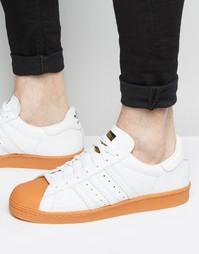 Белые кроссовки в стиле 80-х adidas Originals Superstar S75830 - Белый