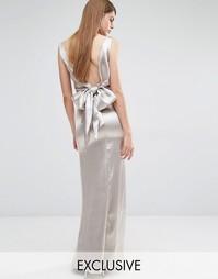 Драпированное платье макси с завязкой сзади True Violet - Stone