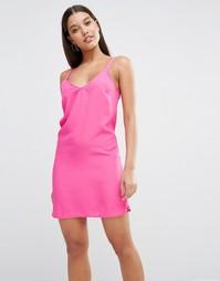Платье мини с V-образным вырезом сзади Lipsy - Розовый