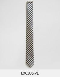 Темно-синий галстук в полоску Reclaimed Vintage - Темно-синий