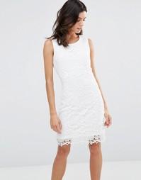 Кружевное цельнокройное платье Pussycat London - Белый