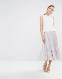 Плиссированная юбка миди Closet - Stone