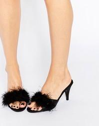 Сабо на каблуке Ann Summers Marabou - Черный