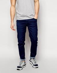Темно-синие облегающие джинсы скинни Cheap Monday - Синий