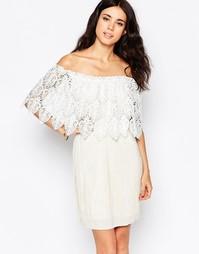Платье мини в греческом стиле с отделкой кроше Oh My Love