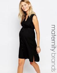 Платье-рубашка на пуговицах без рукавов для беременных Mamalicious Mama.Licious