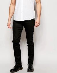 Черные джинсы скинни Weekday Friday - Черный с покрытием