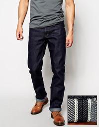 Прямые джинсы из селвидж-денима плотностью 21 унция Unbranded UB321