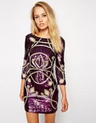 Платье с длинными рукавами Needle & Thread