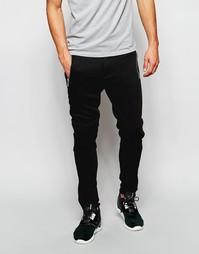 Трикотажные брюки скинни в байкерском стиле ASOS - Черный