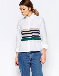 Рубашка в полоску Wood Wood Amanda - Белая полоска