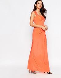 Платье макси VLabel Peck - Peach
