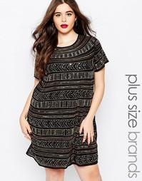 Цельнокройное платье размера плюс с отделкой Boohoo Plus Premium
