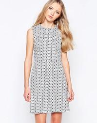 Цельнокройное платье‑трапеция с мозаичным принтом Poppy Lux Talia