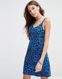 Платье-сорочка на бретельках Your Eyes Lie - Purple leopard