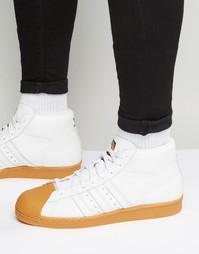 Белые кроссовки adidas Originals Pro Model DLX S75841 - Белый