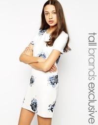 Платье-футболка с цветочным принтом Vero Moda Tall - Белый